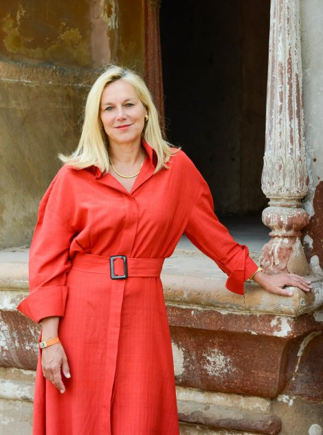 Sigrid Kaag in red dress