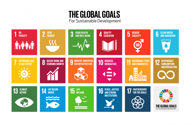 Grid of the global goals for sustainable development